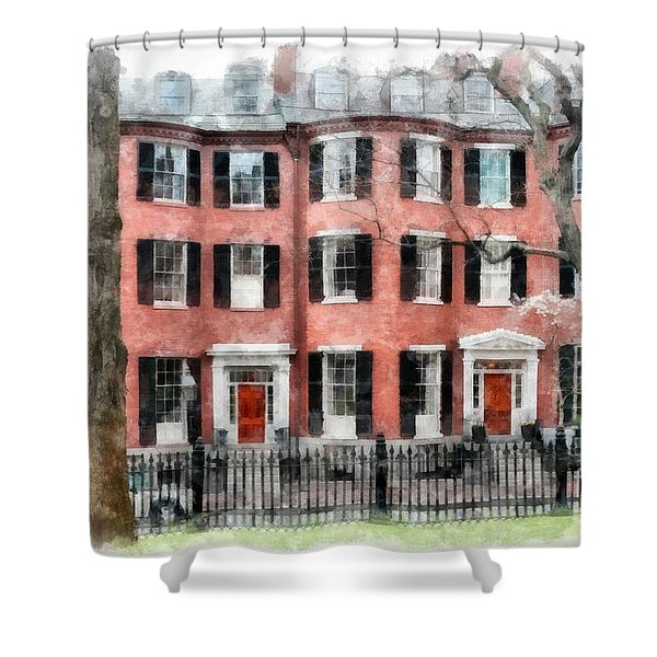 Louisburg Square Beacon Hill Boston Shower Curtain