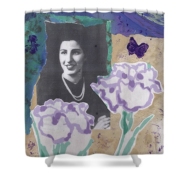 Louise In Boston 1944 In Memory Of My Mother Shower Curtain