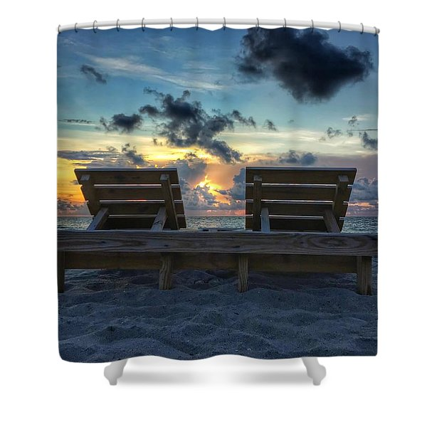 Lounge For Two Shower Curtain