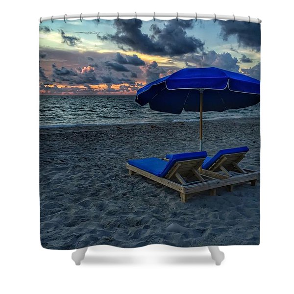 Lounging By The Sea Shower Curtain