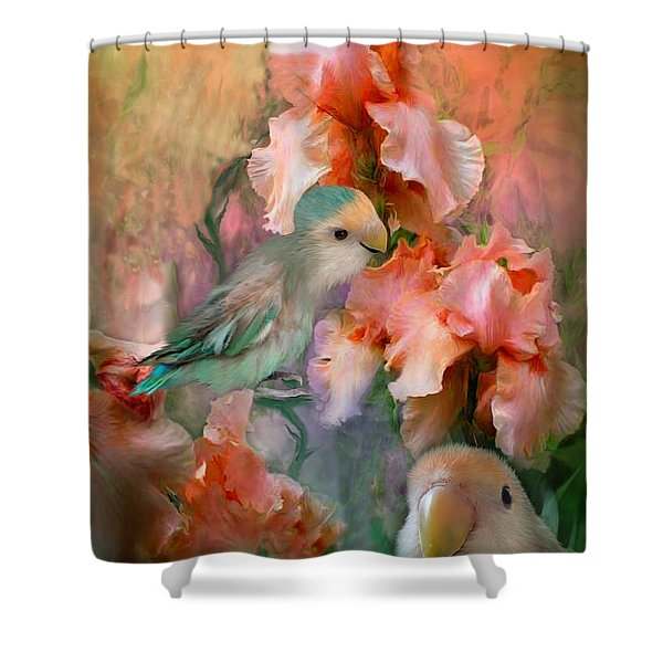 Love Among The Irises Shower Curtain
