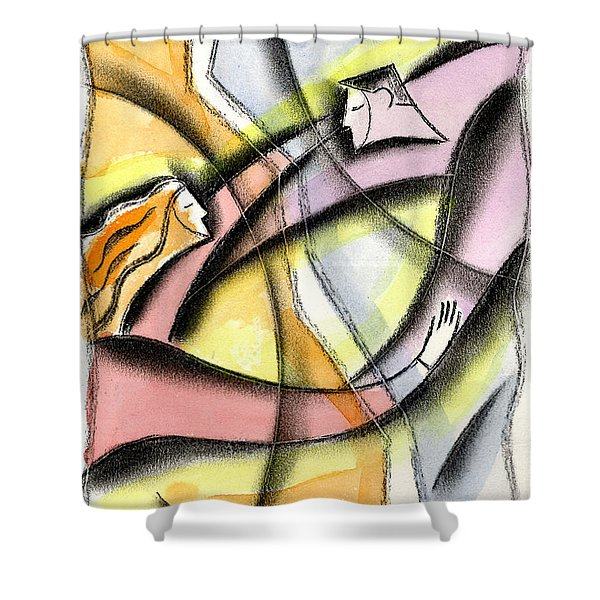 Love And Liberty Shower Curtain