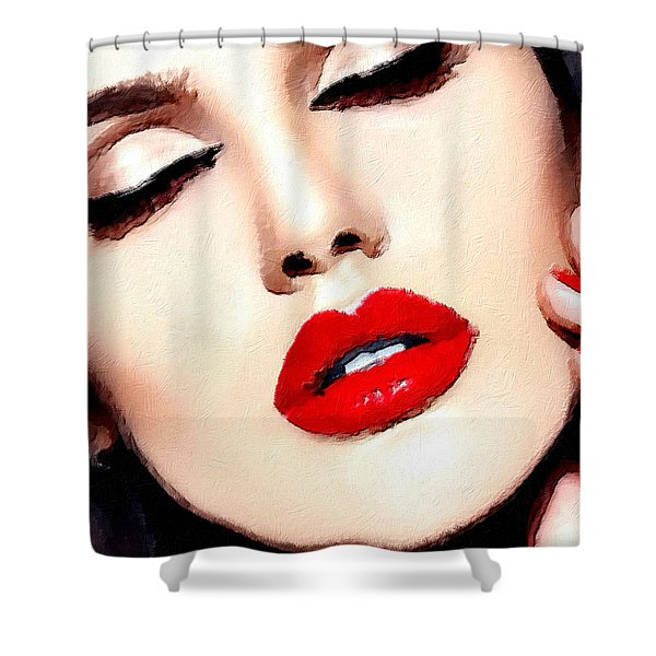 Love And Passion Portrait Of A Woman Crop Shower Curtain