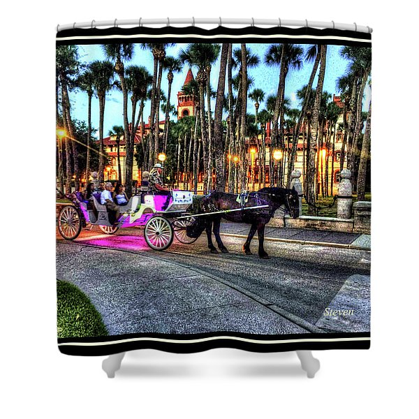 Love And St Augustine Shower Curtain