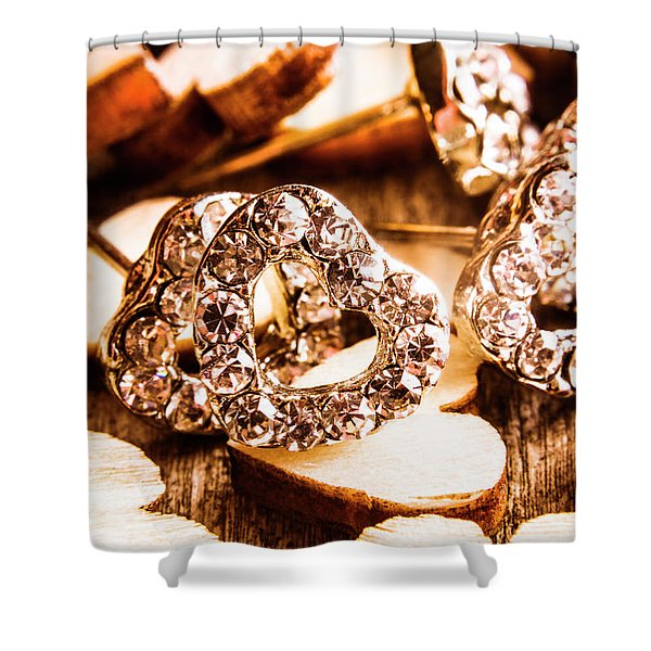 Love And The Jewellery Store Shower Curtain