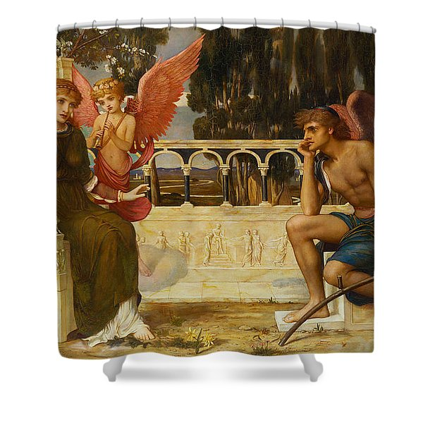 Love And Time Shower Curtain