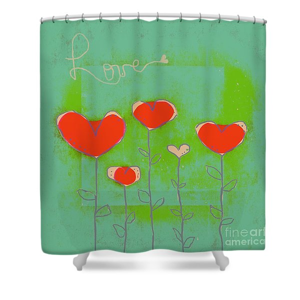 Love Art - 177abc Shower Curtain