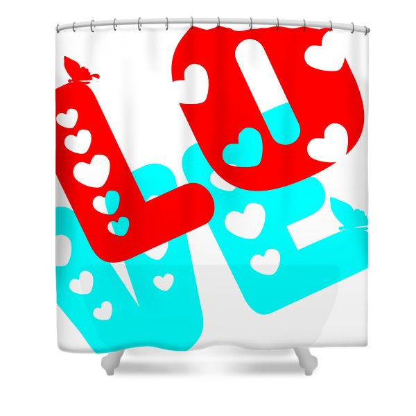 Shower Curtain featuring the digital art Love by Bee-Bee Deigner