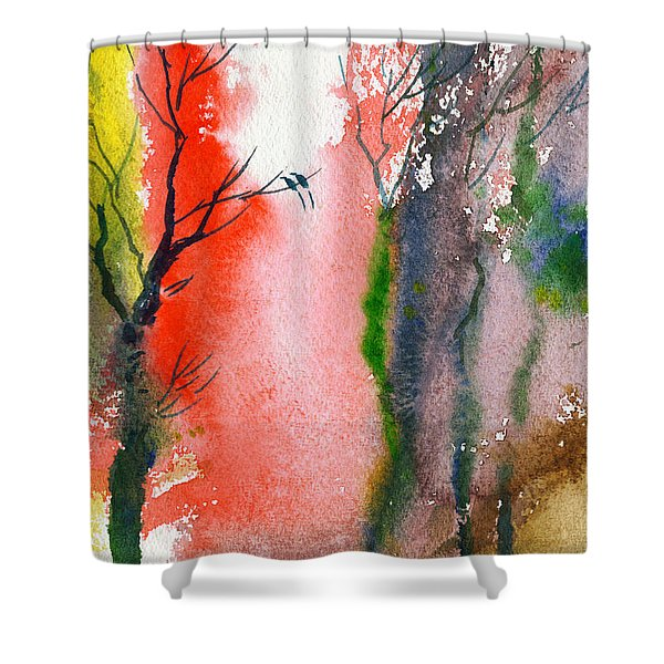 Love Birds 2 Shower Curtain