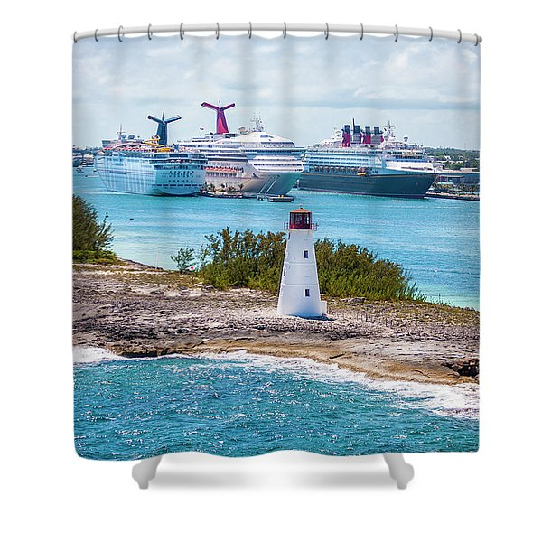 Love Boat Lane Shower Curtain