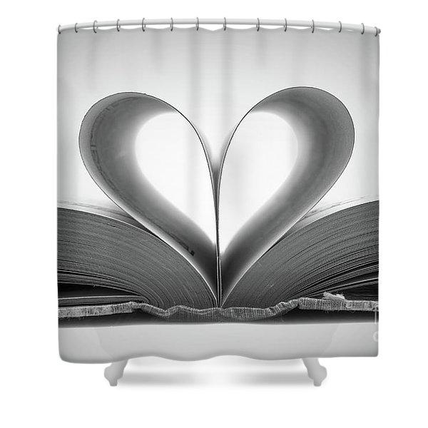 Love Book Shower Curtain