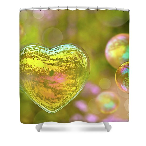 Love Bubble Shower Curtain