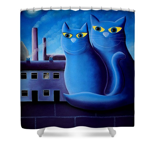 Love By The Pale Moonlight Shower Curtain