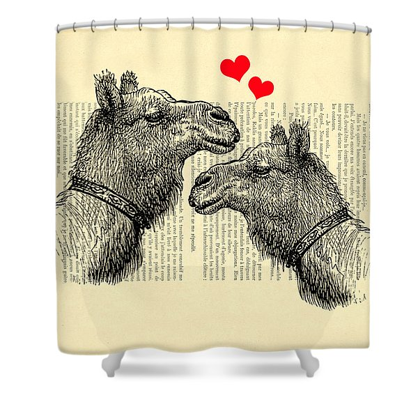 Love Camels Shower Curtain