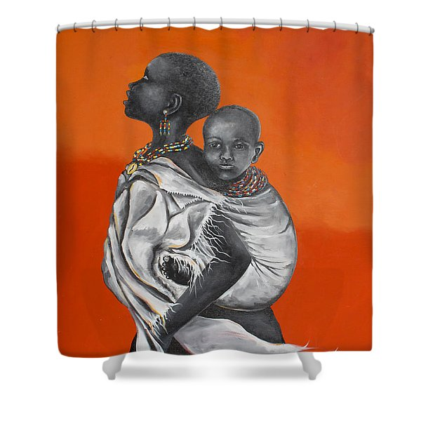 Love Carries Shower Curtain