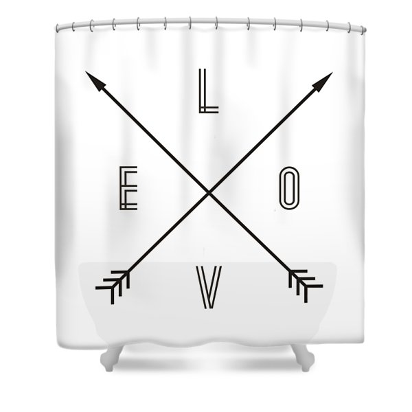 Love Compass Shower Curtain
