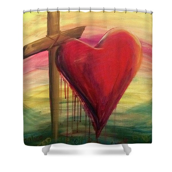 Love Covers A Multitude Shower Curtain