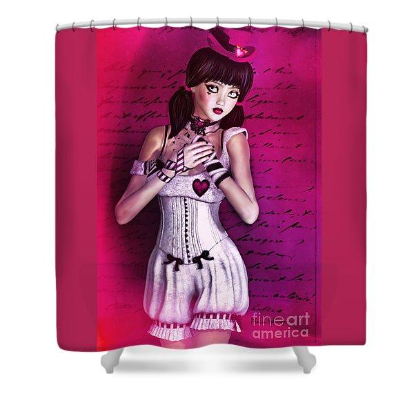 Love Doll Shower Curtain