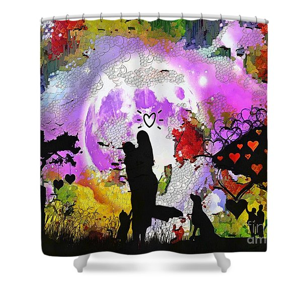 Love Family And Friendship In The Mix Shower Curtain