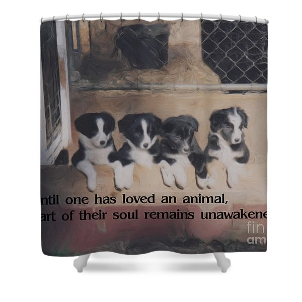 Love For Animals Shower Curtain