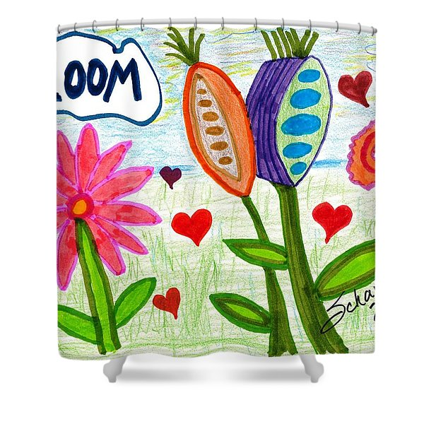 Love In Bloom Shower Curtain