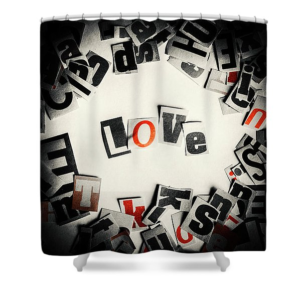 Love In Letters Shower Curtain