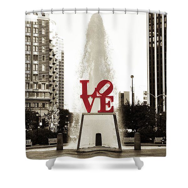 Love In Philadelphia Shower Curtain
