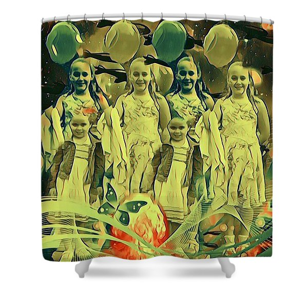 Love In The Age Of War Shower Curtain
