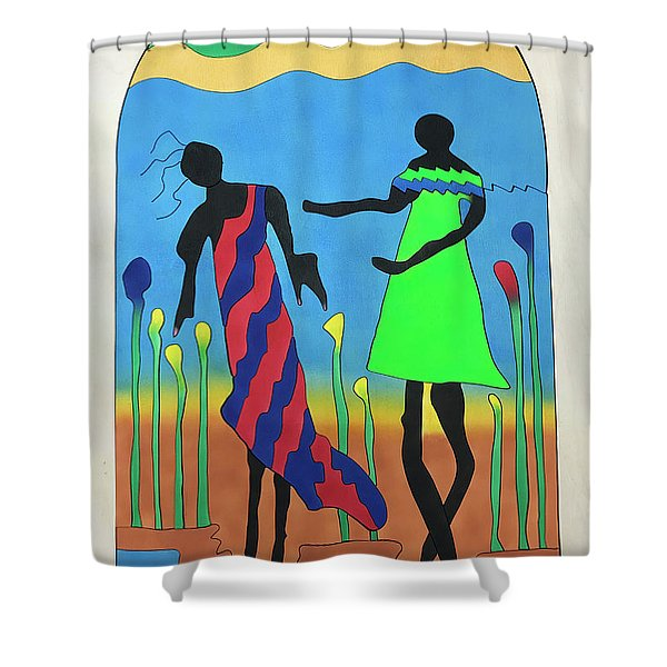 Love In The Reeds Shower Curtain