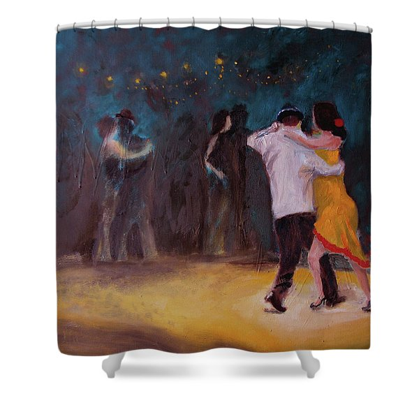 Love In The Spotlight Shower Curtain