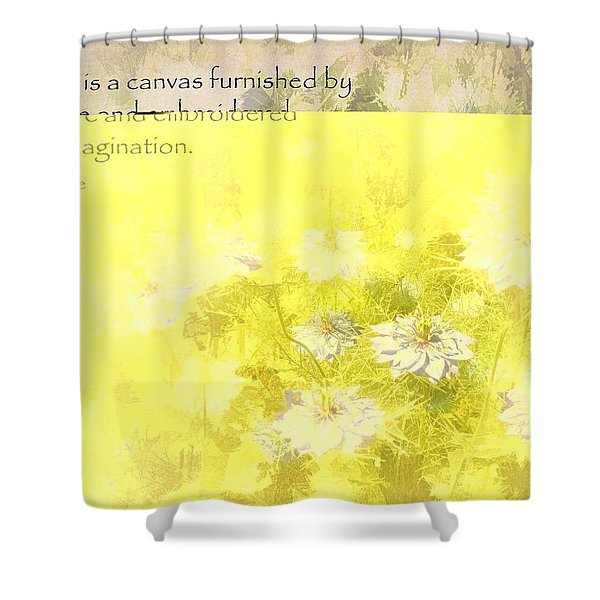 Love Is A Canvas - Nigella Damascena Shower Curtain