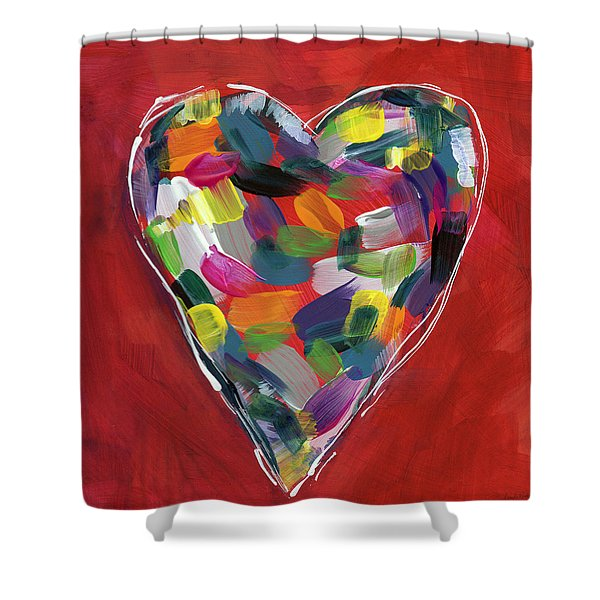 Love Is Colorful - Art By Linda Woods Shower Curtain
