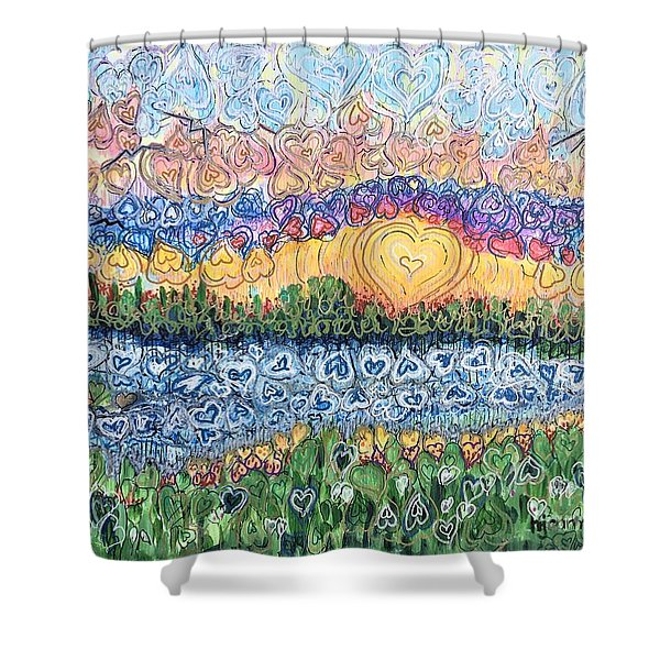 Love Is Everywhere If You Look Shower Curtain
