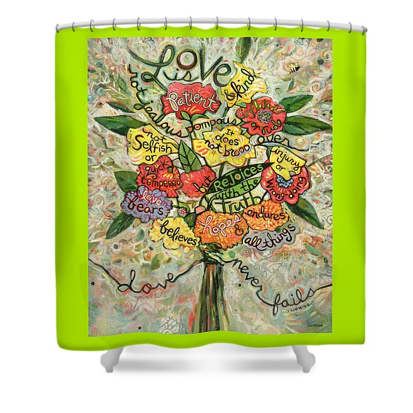 Love Is Patient Shower Curtain