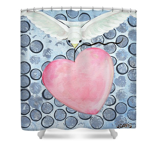 The Blessing Of The Dove Shower Curtain