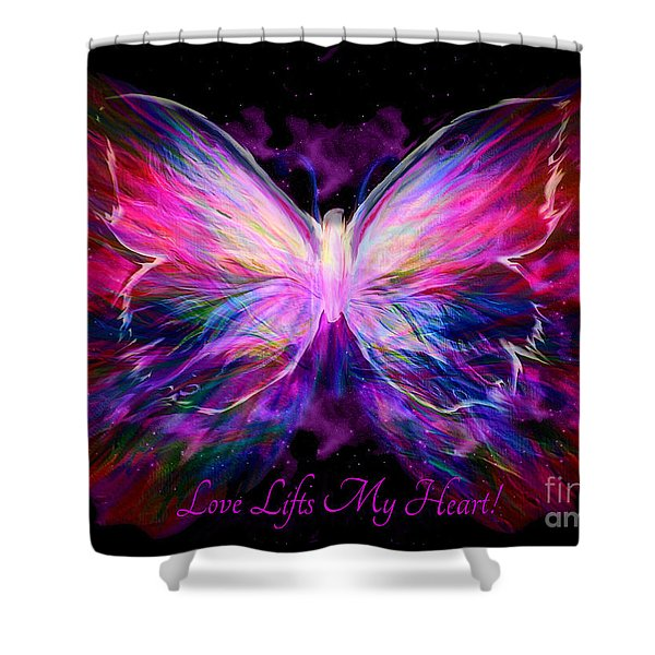 Love Lifts My Heart Shower Curtain