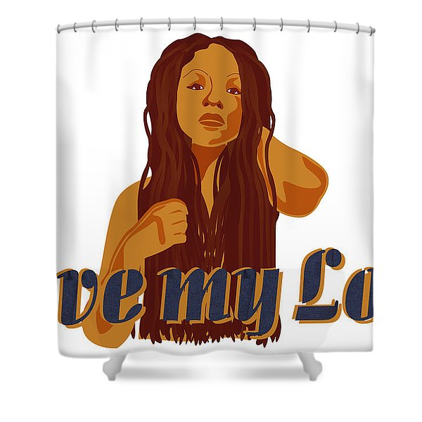 Love My Locs Shower Curtain