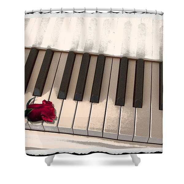 Love Notes Shower Curtain