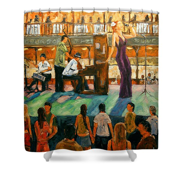 Love Of Jazz By Prankearts Shower Curtain