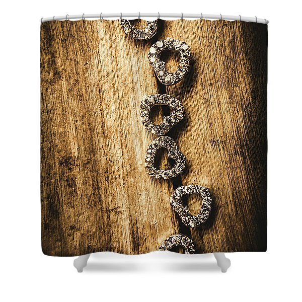 Love Of Rustic Jewellery Shower Curtain