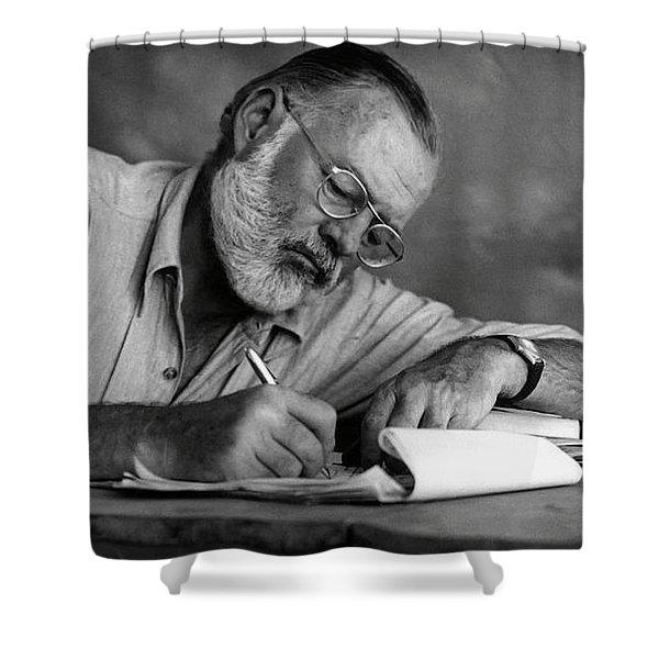 Love Of Writing - Ernest Hemingway Shower Curtain