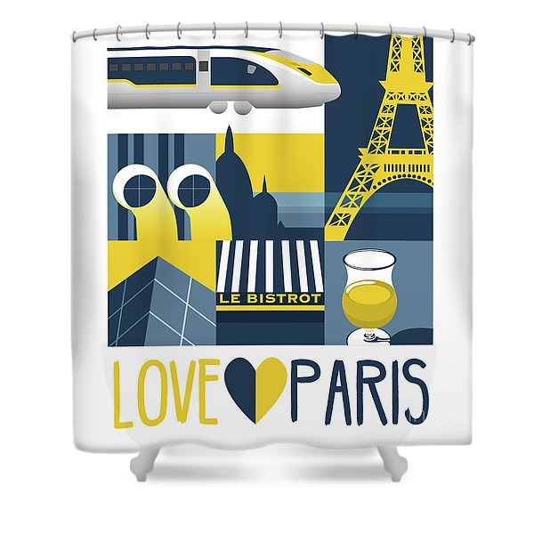 Love Paris  Shower Curtain