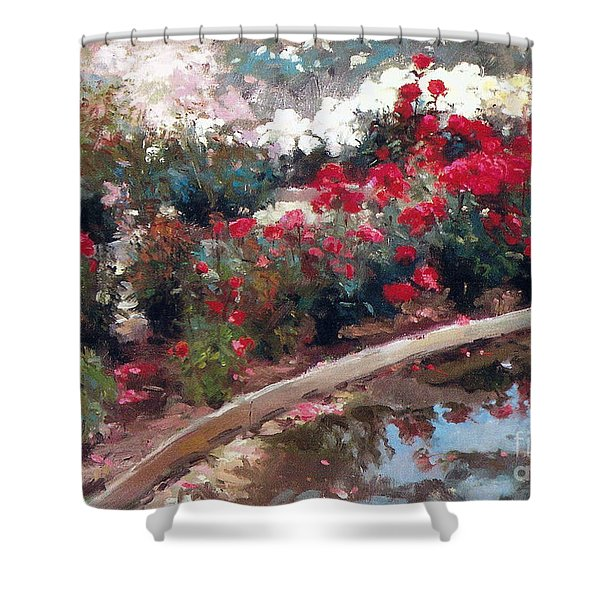 Shower Curtain featuring the painting Love by Rosario Piazza