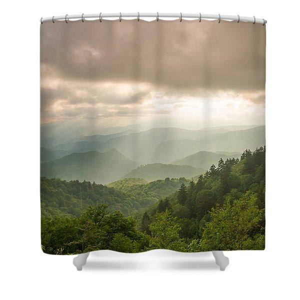 Love Shines Down Shower Curtain