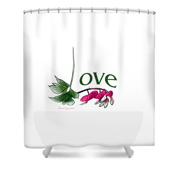 Love Shirt Shower Curtain