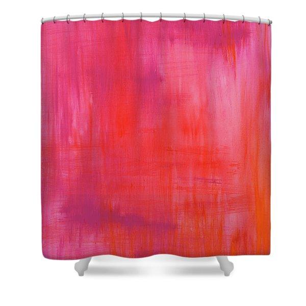 Love Starts Here Shower Curtain