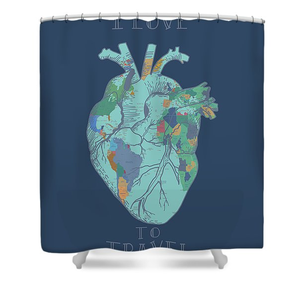 Love To Travel Shower Curtain