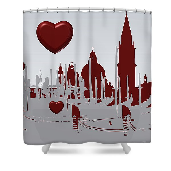 Love Venice Shower Curtain