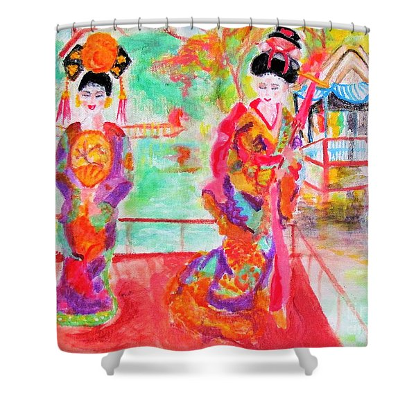 Lovely Asian Ladies Shower Curtain