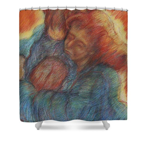 Lovers Embrace Shower Curtain